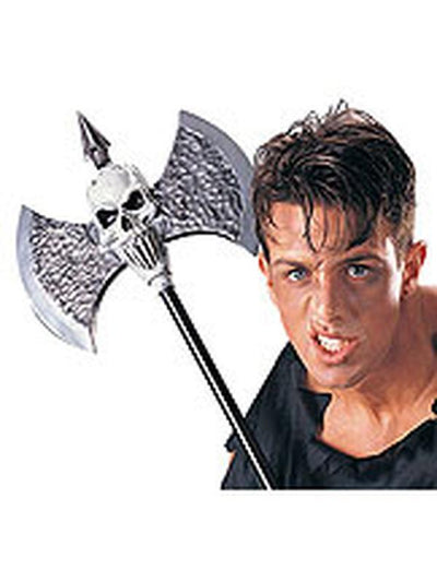 Warrior Deluxe Skull Battle Axe-Costume Accessories-Jokers Costume Hire and Sales Mega Store