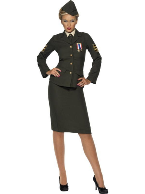 Wartime Officer Costume-Costumes - Women-Jokers Costume Hire and Sales Mega Store
