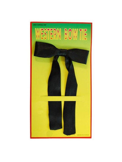 Western Bow Tie - Black-Costume Accessories-Jokers Costume Hire and Sales Mega Store