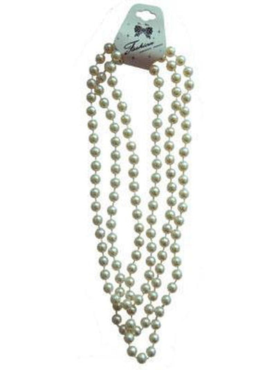 White Pearl Flapper Beads-Costume Accessories-Jokers Costume Mega Store