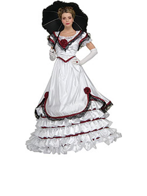 White Southern Belle Collector'S Edition- Size M-Jokers Costume Mega Store