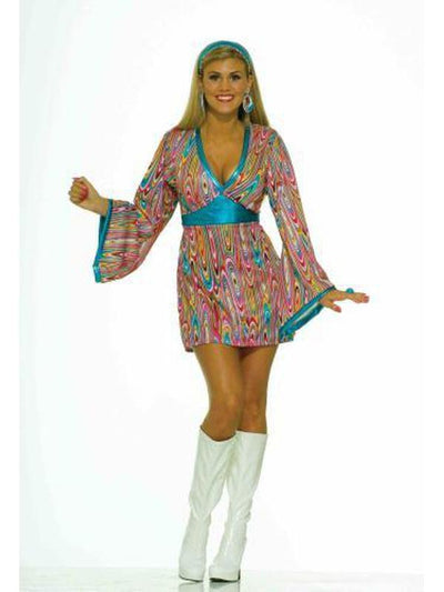 Wild Swirl Hippie Costume - Size L-Costumes - Women-Jokers Costume Hire and Sales Mega Store