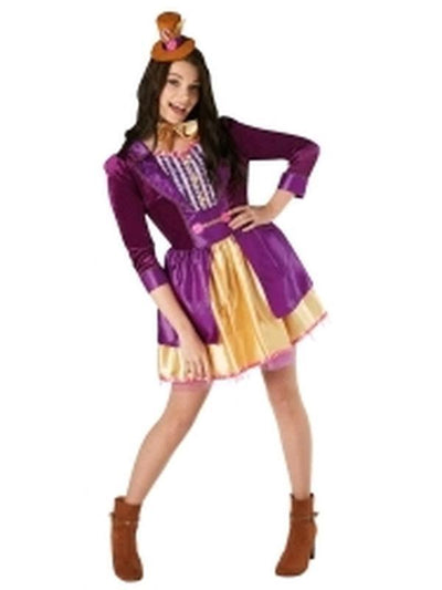 Willy Wonka Ladies Deluxe Costume - Size S-Costumes - Women-Jokers Costume Hire and Sales Mega Store