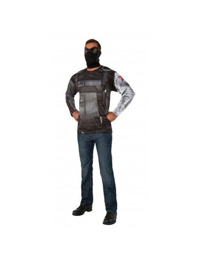 Winter Soldier Adult Costume Top - Size Xl-Costumes - Mens-Jokers Costume Hire and Sales Mega Store