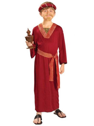 Wiseman Burgundy Costume - Size S-Costumes - Boys-Jokers Costume Hire and Sales Mega Store