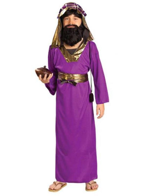 Wiseman Purple Costume - Size M-Costumes - Boys-Jokers Costume Hire and Sales Mega Store