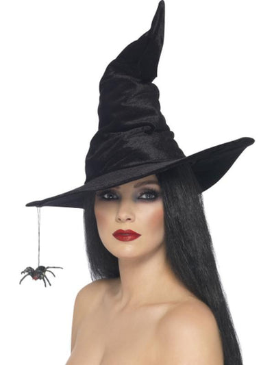 Witch Hat with Spider-Hats and Headwear-Jokers Costume Hire and Sales Mega Store