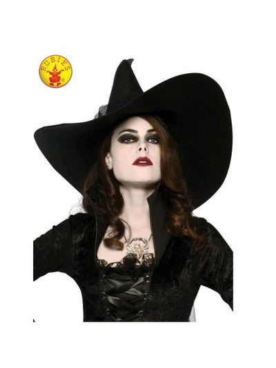 WITCHES HAT, ADULT-Hats and Headwear-Jokers Costume Hire and Sales Mega Store