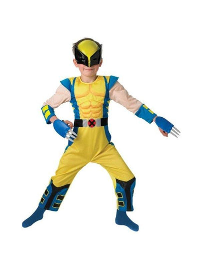 Wolverine Deluxe Child Costume - Size L-Costumes - Boys-Jokers Costume Hire and Sales Mega Store