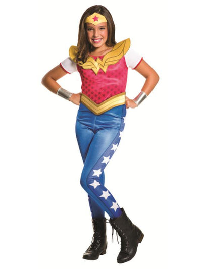 Wonder Woman Dcshg Classic - Size 6-8-Costumes - Girls-Jokers Costume Hire and Sales Mega Store