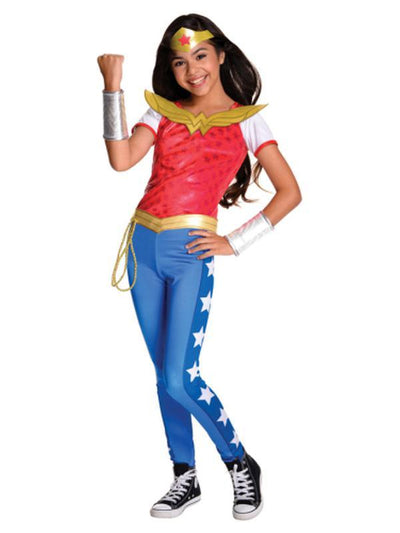 Wonder Woman Dcshg Deluxe - Size 3-5-Costumes - Girls-Jokers Costume Hire and Sales Mega Store