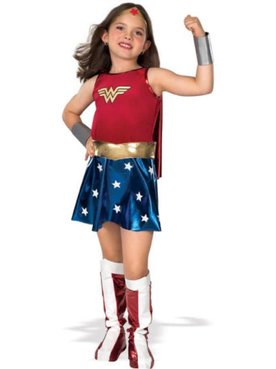 Wonder Woman Deluxe Child - Size M-Costumes - Girls-Jokers Costume Hire and Sales Mega Store