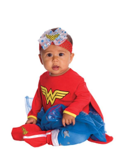 Wonder Woman Onesie - Size 0-6 Months-Costumes - Girls-Jokers Costume Hire and Sales Mega Store