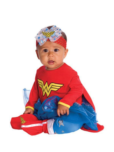 Wonder Woman Onesie - Size 6-12 Months-Costumes - Girls-Jokers Costume Hire and Sales Mega Store