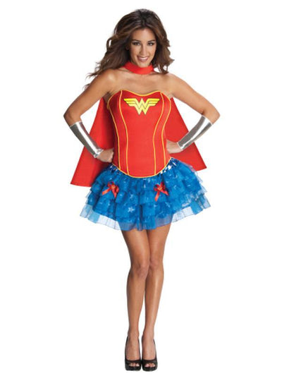 Wonder Woman Secret Wishes Costume - Size S-Costumes - Women-Jokers Costume Hire and Sales Mega Store