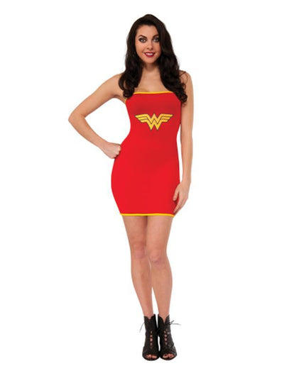 Wonder Woman Tube Dress - Size L-Costumes - Women-Jokers Costume Hire and Sales Mega Store