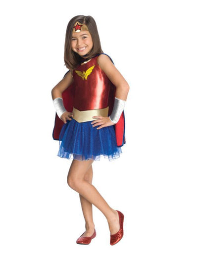 Wonder Woman Tutu Costume - Size S-Costumes - Girls-Jokers Costume Hire and Sales Mega Store