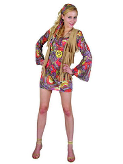 Woodstock Hippie Lady - Adult - Large-Costumes - Women-Jokers Costume Hire and Sales Mega Store