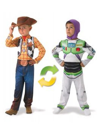 Woody To Buzz Lightyear Deluxe Reversible - Size 3-Costumes - Boys-Jokers Costume Hire and Sales Mega Store