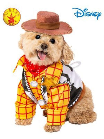 WOODY TOY STORY PET COSTUME - SIZE MEDIUM-Costumes - Pets-Jokers Costume Hire and Sales Mega Store