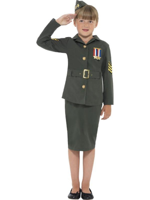WW2 Army Girl Costume-Costumes - Girls-Jokers Costume Hire and Sales Mega Store