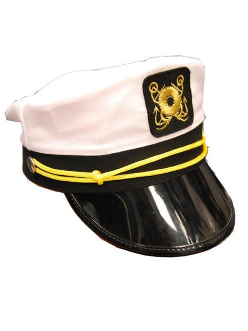 Yacht Hat-Hats and Headwear-Jokers Costume Hire and Sales Mega Store