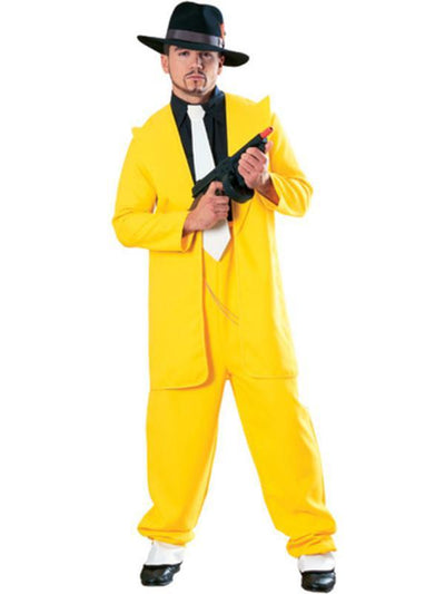 Yellow Zoot Suit - Size Xl-Costumes - Mens-Jokers Costume Hire and Sales Mega Store