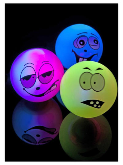 Zany Face Flashing & Bouncing Balls-Costume Accessories-Jokers Costume Mega Store