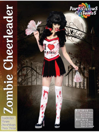 Zombie Cheerleader-Costumes - Women-Jokers Costume Hire and Sales Mega Store