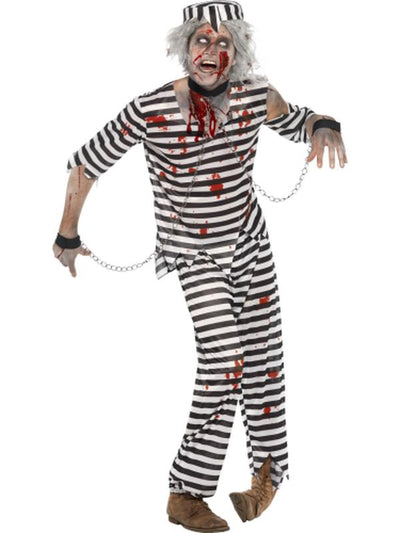 Zombie Convict Costume.-Costumes - Mens-Jokers Costume Hire and Sales Mega Store