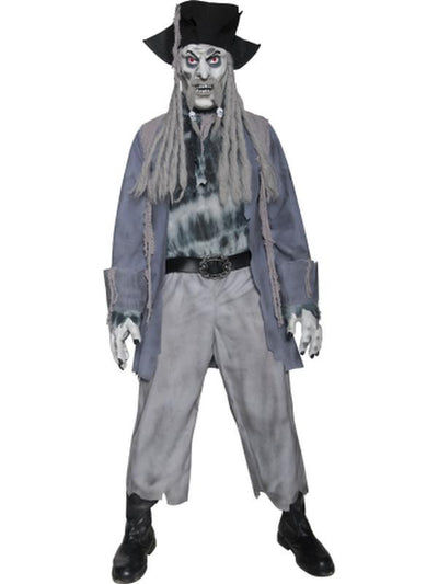Zombie Ghost Pirate Costume-Costumes - Mens-Jokers Costume Hire and Sales Mega Store