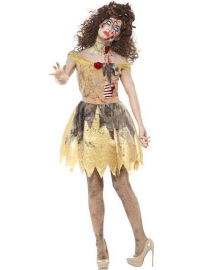 Zombie Golden Fairytale Costume-Costumes - Women-Jokers Costume Hire and Sales Mega Store