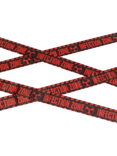 Zombie Infection Zone Caution Tape-Halloween Props and Decorations-Jokers Costume Hire and Sales Mega Store
