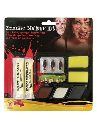 Zombie Make Up Kit-Halloween Makeup & Special FX-Jokers Costume Hire and Sales Mega Store