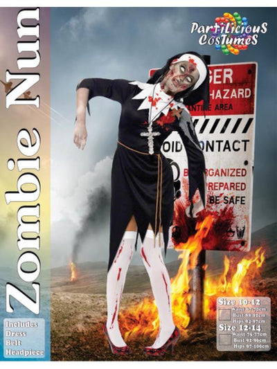 Zombie Nun-Costumes - Women-Jokers Costume Hire and Sales Mega Store