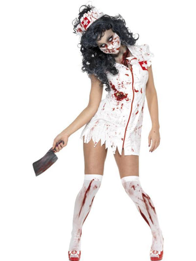 Zombie Nurse Costume-Costumes - Women-Jokers Costume Hire and Sales Mega Store