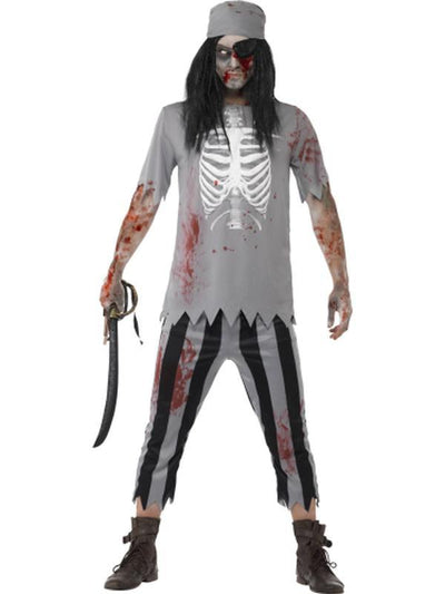 Zombie Pirate Costume-Costumes - Mens-Jokers Costume Hire and Sales Mega Store