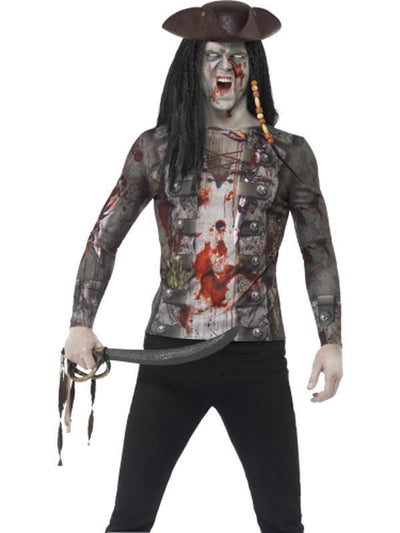 Zombie Pirate T-Shirt-Costumes - Women-Jokers Costume Hire and Sales Mega Store
