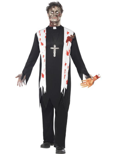 Zombie Priest Costume-Costumes - Mens-Jokers Costume Hire and Sales Mega Store
