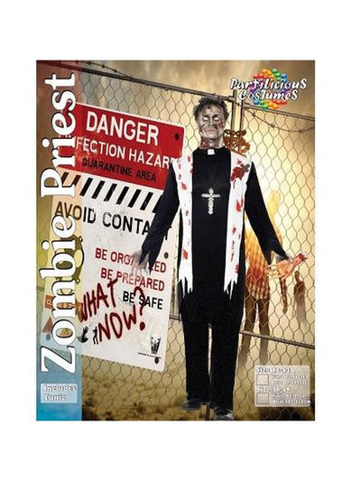 Zombie Priest Costume.-Costumes - Mens-Jokers Costume Hire and Sales Mega Store