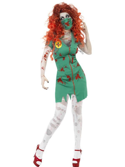 Zombie Scrub Nurse Costume-Costumes - Women-Jokers Costume Hire and Sales Mega Store