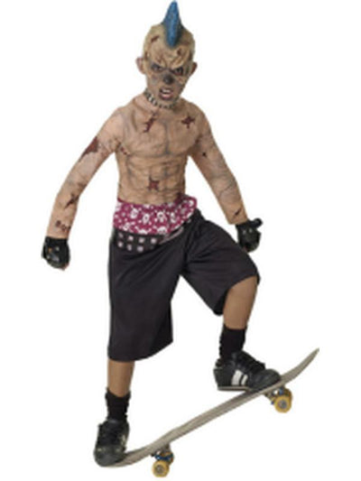 Zombie Skate Punk - Size L-Costumes - Boys-Jokers Costume Hire and Sales Mega Store