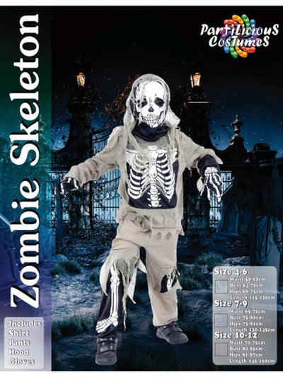Zombie Skeleton Costume-Costumes - Boys-Jokers Costume Hire and Sales Mega Store