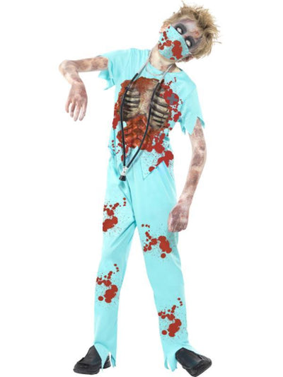 Zombie Surgeon Costume-Costumes - Boys-Jokers Costume Hire and Sales Mega Store