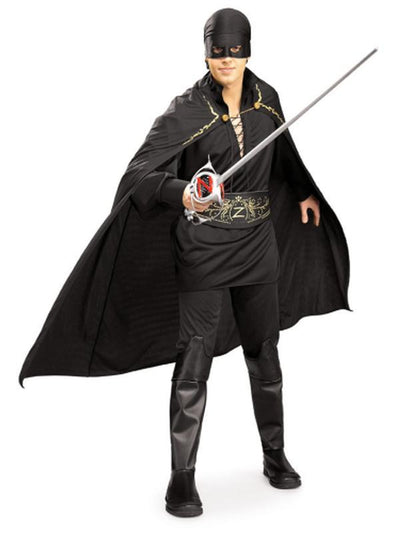 Zorro Deluxe Adult Costume - Size Xl-Costumes - Mens-Jokers Costume Hire and Sales Mega Store