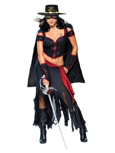 Zorro Secret Wishes Costume - Size M-Costumes - Women-Jokers Costume Hire and Sales Mega Store