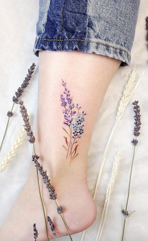 Currently Obsessing: Botanical Tattoos