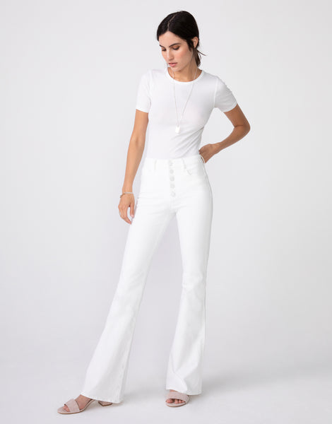 JANET High Rise flare in Blanc