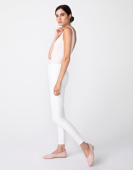 OLIVIA High Rise Skinny in Blanc