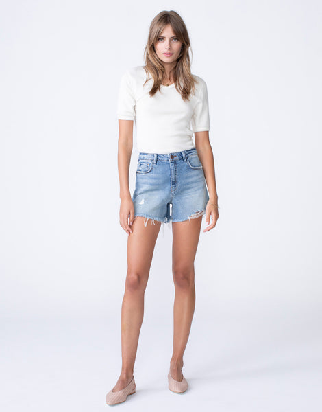EMMA High Waist Mom Short in Beatnik